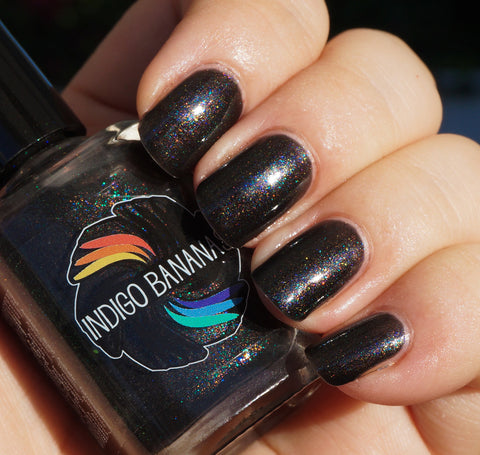 When Are We? - black with multicolor shimmer
