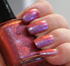 Abby Normal - lavender/pink/orange glass fleck multichrome - GLOWS BLUE