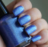 Roll in Ze Hay - indigo glass fleck glow in the dark - GLOWS TEAL