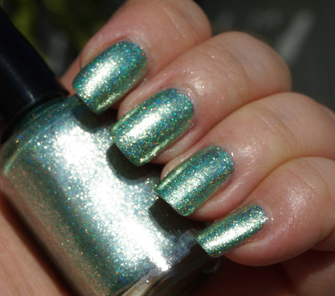 It's Alive! - green glass fleck holo chrome