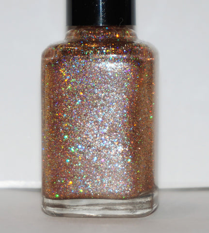 Sequins of Events - rose gold glitter - shifts champagne to red-gold