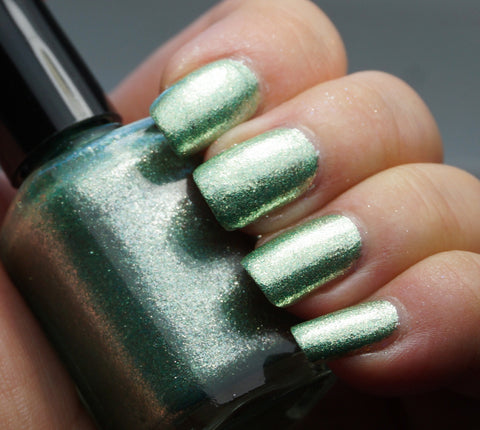 It's Alive! - green glass fleck holo chrome-more