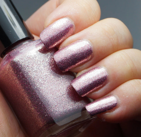 I Feel Pretty - pink glass fleck holo chrome