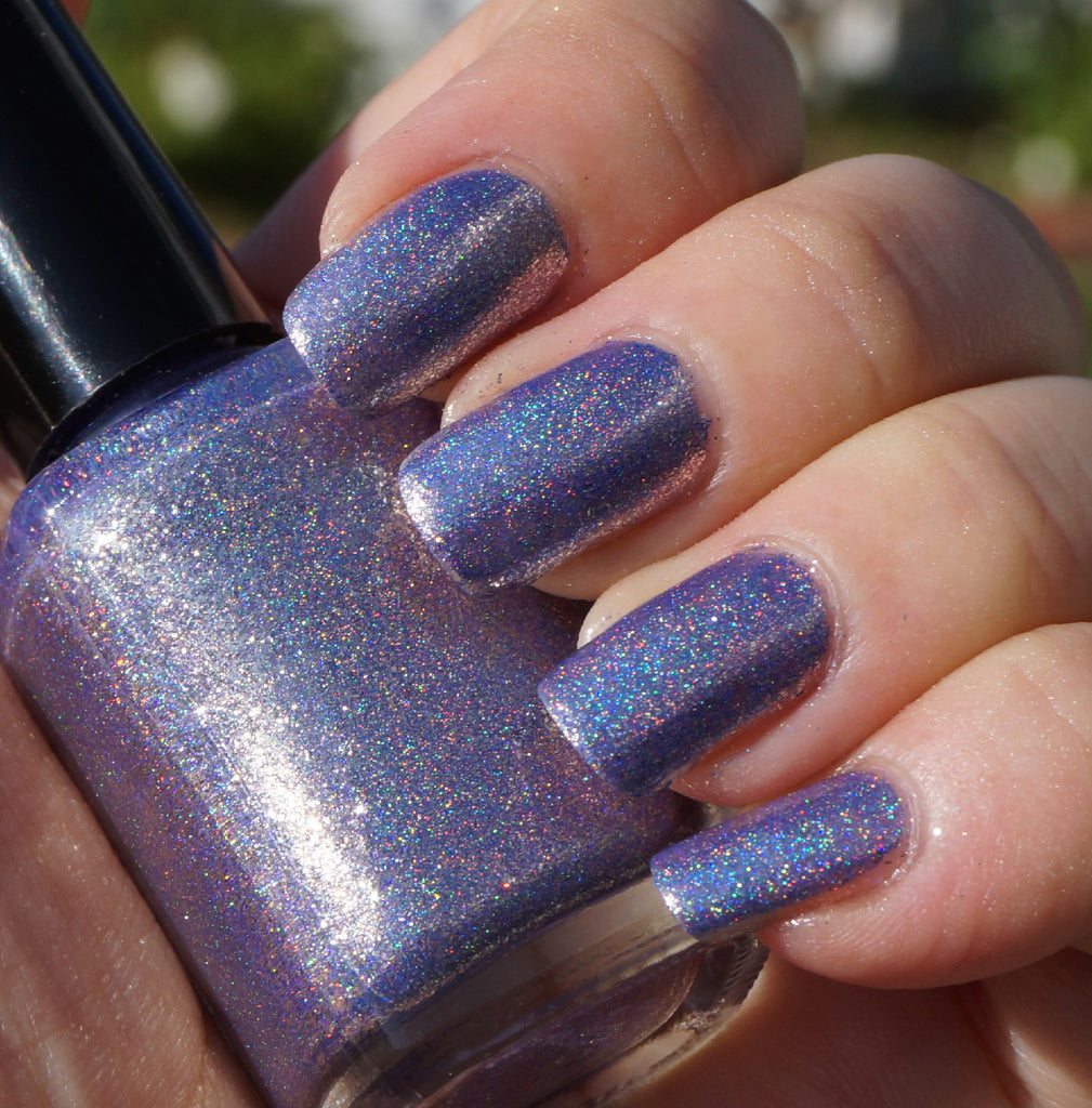 Taffeta, Darling? - purple glass fleck holo chrome