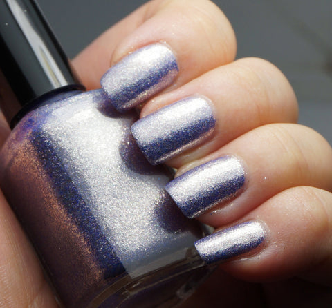 Taffeta, Darling? - purple glass fleck holo chrome-more