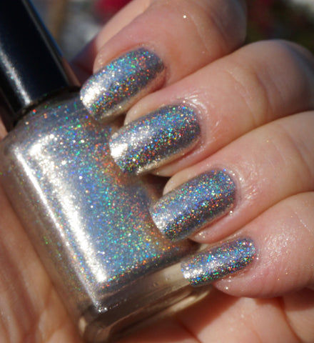 Bridal Veil - silver flakie linear holographic
