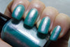 Immortal Game - teal crelly, pink glass fleck duochrome shimmer