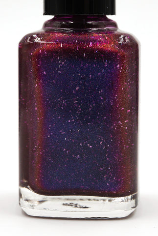 These Violet Delights Have Violet Ends - dark fuchsia multichrome linear holographic w/ flakies-more