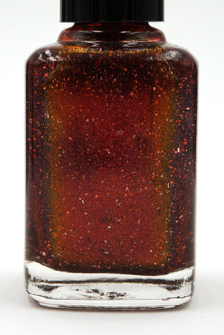 Great Beasts Once Roamed This World - orange red multichrome linear holographic w/ flakies-more