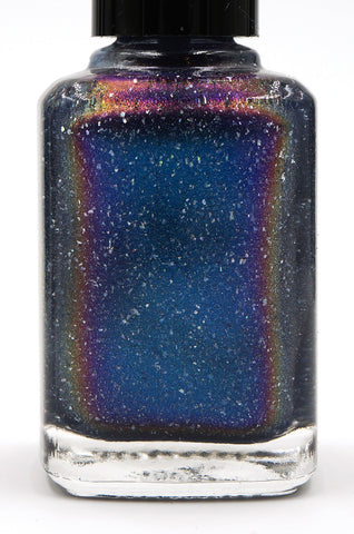 The Beauty in the World - light blue multichrome linear holographic w/ flakies-more