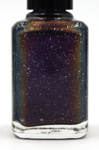 They Became Music - dark plum purple multichrome linear holographic w/ flakies-more