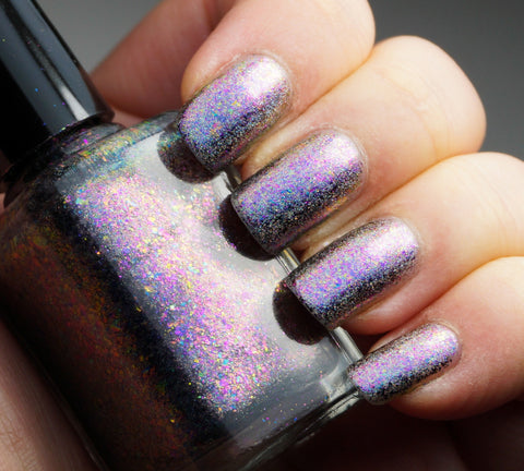 Galactic Halo (HOLO) - pink-purple/copper chrome flakie holographic-more