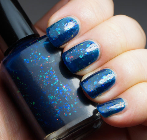 Sleeping Beauty - dark blue with mix of colorshifting flakies-more