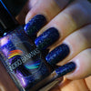 What Dreams May Come - dark blue multichrome linear holographic w/ flakies