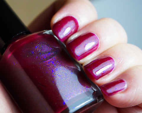 Sangreal - raspberry red shimmer & violet colorshifting flakies-more