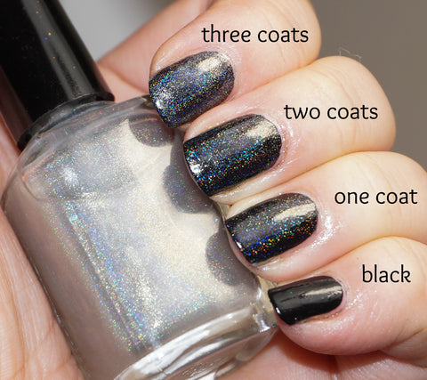 Rainbow All the Things! linear holographic top coat (less grey)-more