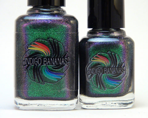 Anansi - green/purple multichrome glass fleck-more