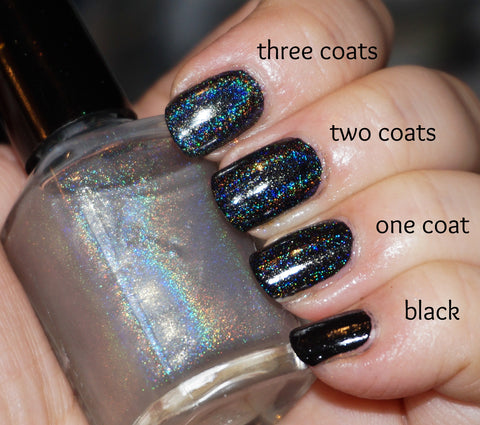 Rainbow All the Things! linear holographic top coat (less grey)