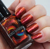 Great Beasts Once Roamed This World - orange red multichrome linear holographic w/ flakies