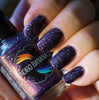 They Became Music - dark plum purple multichrome linear holographic w/ flakies