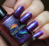 These Violet Delights Have Violet Ends - dark fuchsia multichrome linear holographic w/ flakies