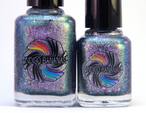 Rez - grey & black glitter, purple duochrome base-more