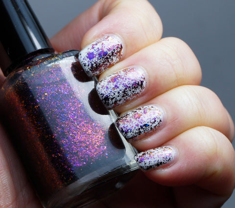 Violet Stars - purple/red/gold mega chrome flakie-more