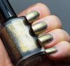 Quantum Gravity (HOLO) - gold chrome flakie linear holographic