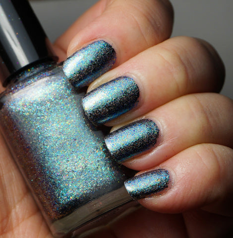 Event Horizon (HOLO) - teal/blue chrome flakie linear holographic-more