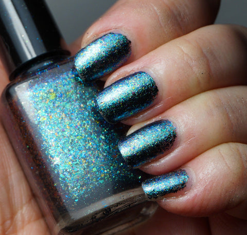 Event Horizon - teal/blue chrome flakie-more