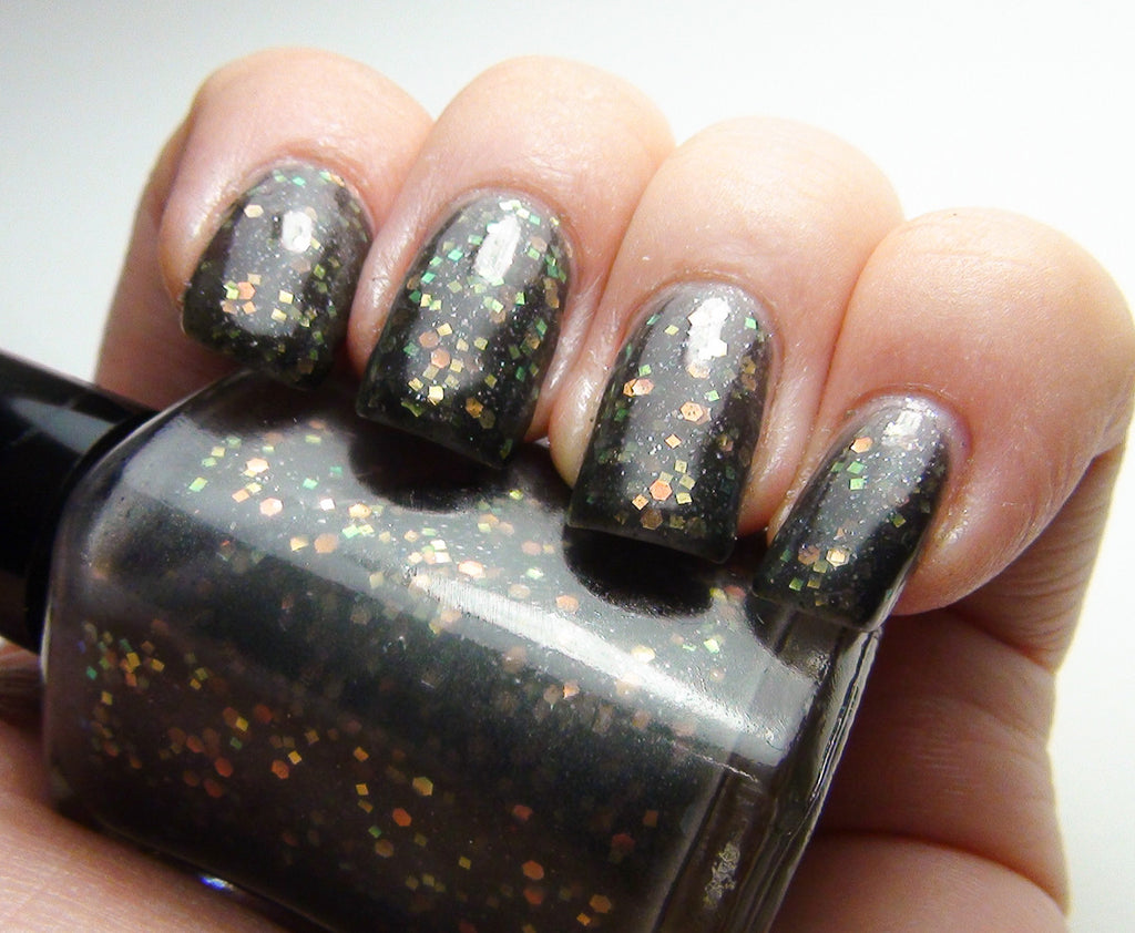 Medusa Transducer - charcoal jelly w/ iridescent glitter - GLOWS