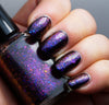 Violet Stars - purple/red/gold mega chrome flakie