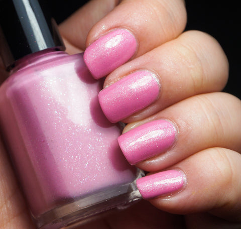 Cherry Blossom Roads - light pink w/ glass fleck shimmer-more