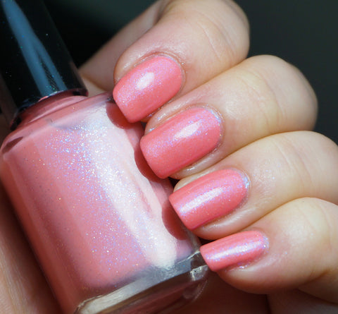 Saffron Revolution - coral/peach w/ glass fleck shimmer-more