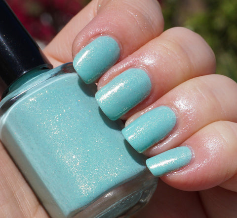 Land of Green Ginger - mint green w/ glass fleck shimmer-more