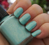 Land of Green Ginger - mint green w/ glass fleck shimmer