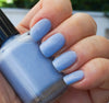 Little Fluffy Clouds - light blue w/ glass fleck shimmer