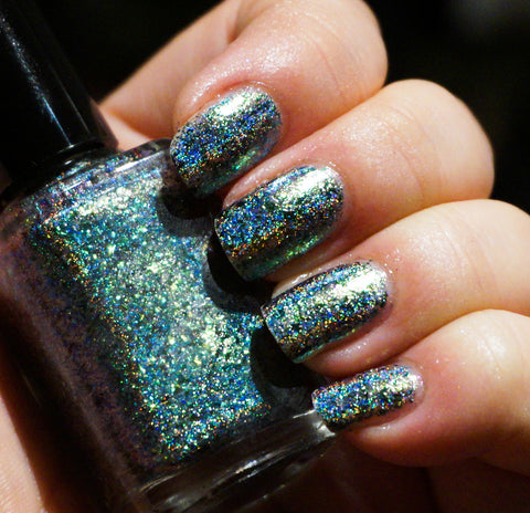 A Greener World (HOLO) - gold-green/green/blue mega chrome flakie-more