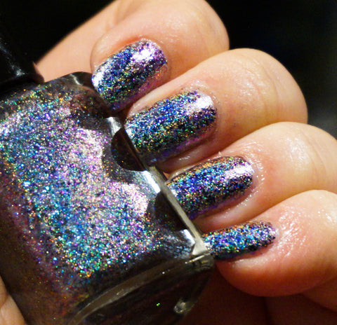 Sea Quake (HOLO) - green/teal/purple/magenta mega chrome flakie-more