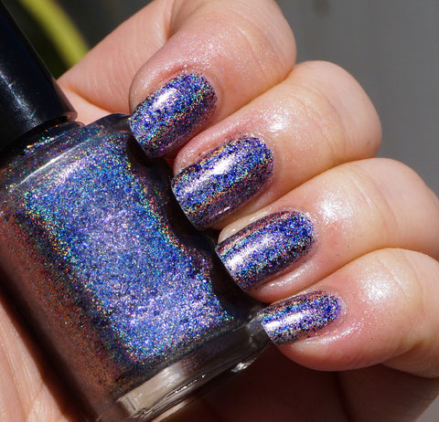 Deep Blue Day (HOLO) - blue/purple/red/gold mega chrome flakie-more
