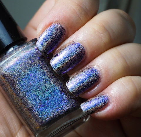 Deep Blue Day (HOLO) - blue/purple/red/gold mega chrome flakie