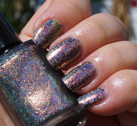 Dawn Chorus (HOLO) - red/pink/gold/green mega chrome flakie-more