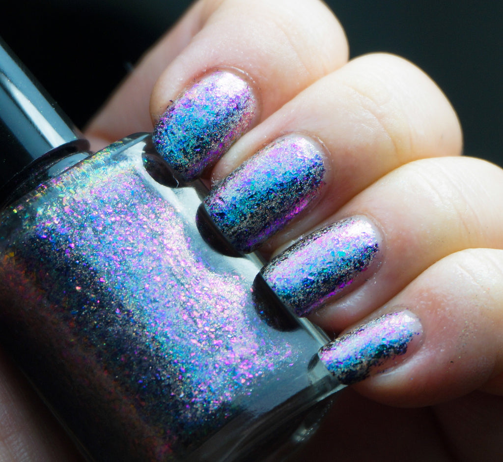 Island Universe (HOLO) - teal/blue/purple mega chrome flakie