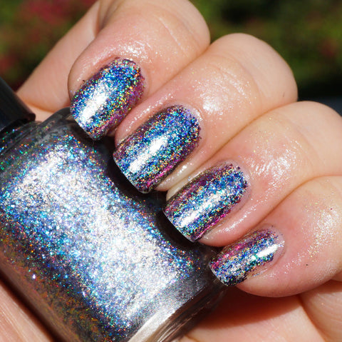 Island Universe (HOLO) - teal/blue/purple mega chrome flakie-more