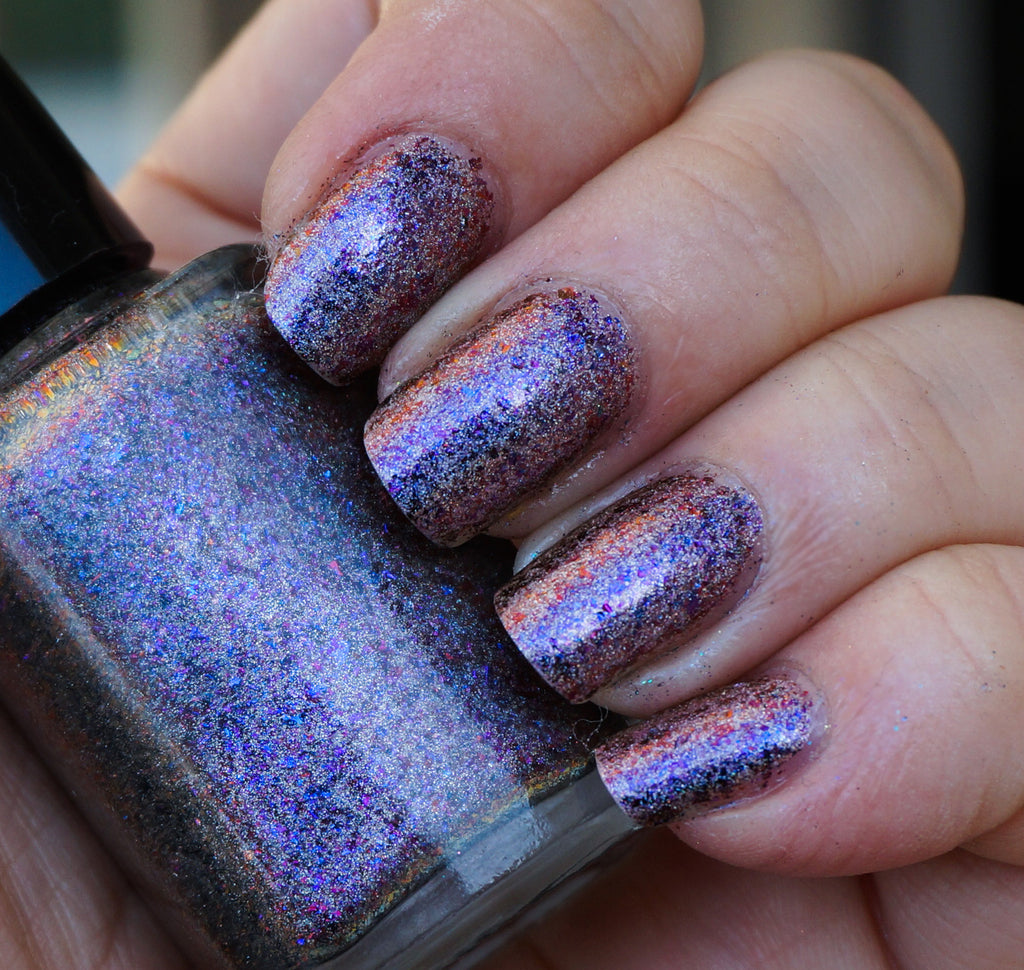 Violet Stars (HOLO) - purple/red/gold mega chrome flakie