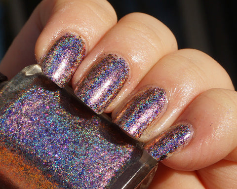 Violet Stars (HOLO) - purple/red/gold mega chrome flakie-more