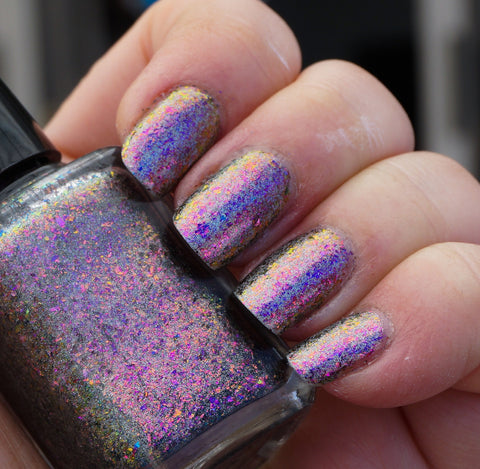 Fantastic Planet (HOLO) - magenta/red/gold mega chrome flakie