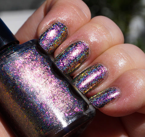 Fantastic Planet (HOLO) - magenta/red/gold mega chrome flakie-more