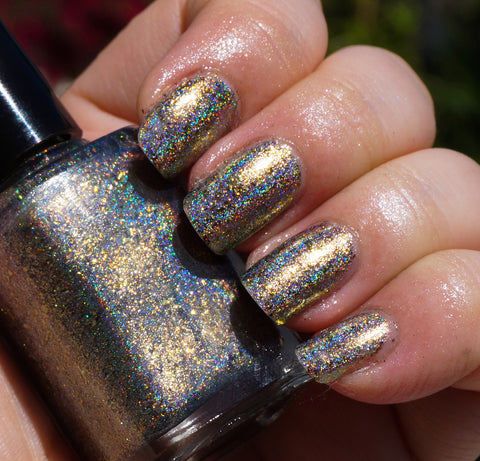 Hay Ride (HOLO) - gold mega chrome flakie-more
