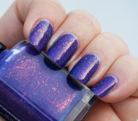 Hole in the Sky - purple colorshifting flakie, shimmer & linear holo-more